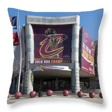 Cleveland Cavaliers The Q Throw Pillow