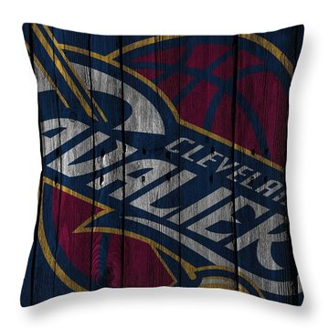 Cleveland Cavaliers Wood Fence Throw Pillow