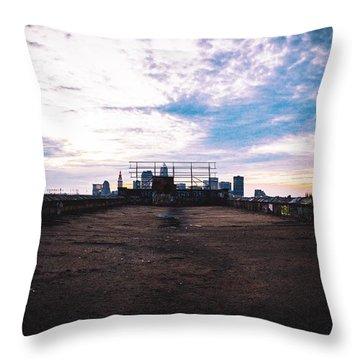 Cleveland From Afar Throw Pillow