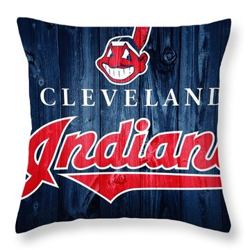 Cleveland Indians Barn Door Throw Pillow