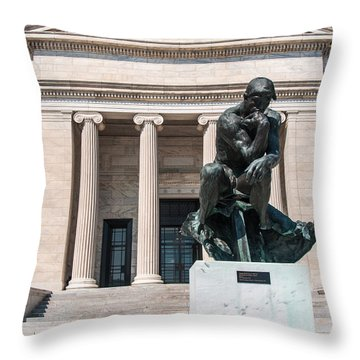 Cleveland Museum Of Art, The Thinker Throw Pillow