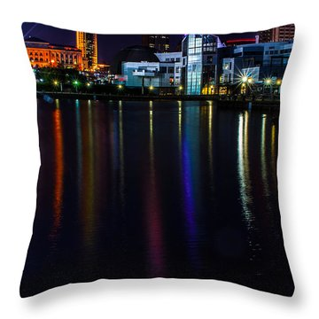 Cleveland Nightly Reflections Throw Pillow