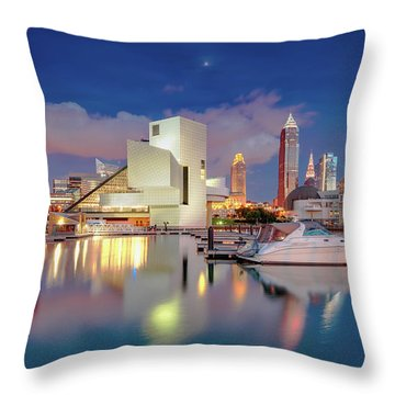 Throw Pillow featuring the photograph Cleveland Ohio 2  by Emmanuel Panagiotakis