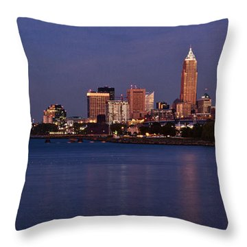 Cleveland Ohio Throw Pillow