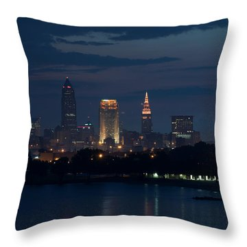 Cleveland Reflections Throw Pillow