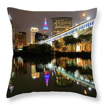 Cleveland Rocks Throw Pillow