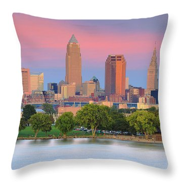 Throw Pillow featuring the photograph Cleveland Skyline 6 by Emmanuel Panagiotakis