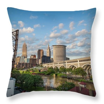 Cleveland Skyline Vista Throw Pillow