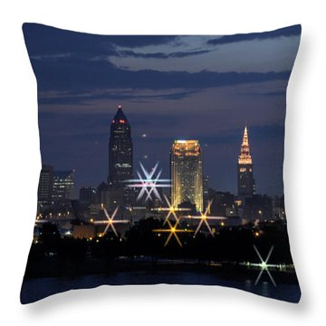 Cleveland Starbursts Throw Pillow