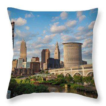 Cleveland Summer Skyline  Throw Pillow