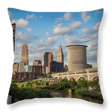 Cleveland Summer Skyline  Throw Pillow