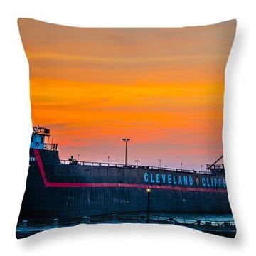 Cleveland Sunset Throw Pillow