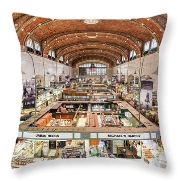 Cleveland Westside Market  Throw Pillow