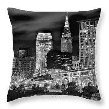Charcoal Night  Throw Pillow