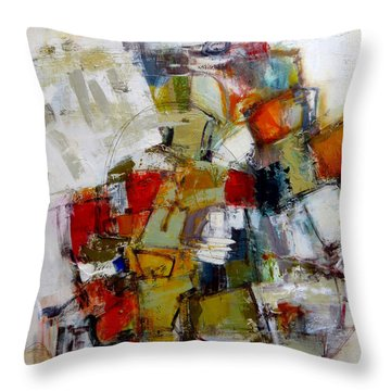 Throw Pillow featuring the painting Clever Clogs by Katie Black