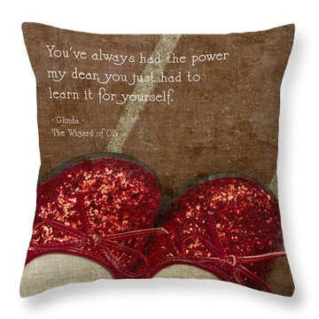 Click Your Heels Throw Pillow