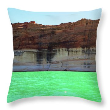 Cliff At Lake Powell Throw Pillow