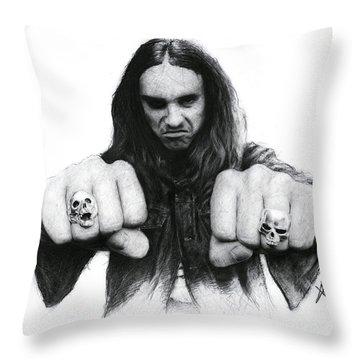 Cliff Burton Throw Pillow