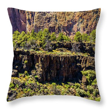 Throw Pillow featuring the photograph Cliff Edge by Jonny D