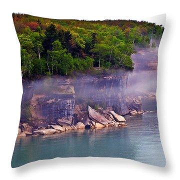 Cliff Fog Throw Pillow