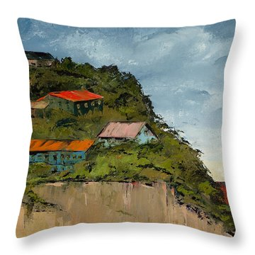 Cliff Homes Throw Pillow