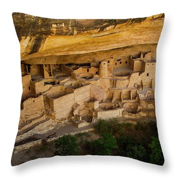 Cliff House From Above Throw Pillow