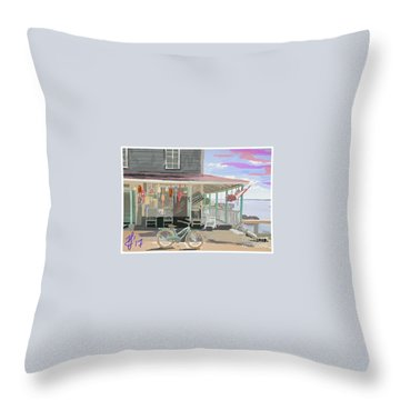 Cliff Island Store 2017 Throw Pillow