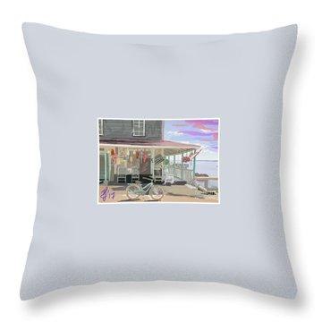 Cliff Island Store 2017 Throw Pillow