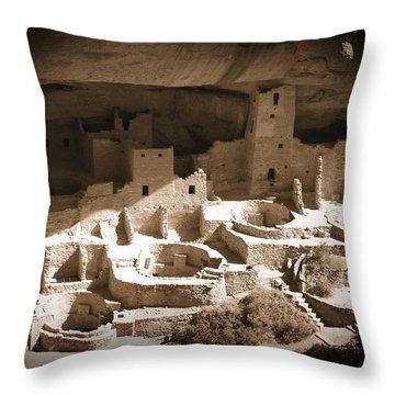 Throw Pillow featuring the photograph Cliff Palace Mesa Verde by Kurt Van Wagner