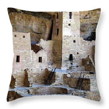 Cliff Palace Mesa Verde Throw Pillow