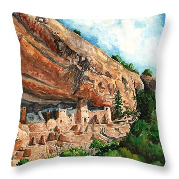 Cliff Palace Mesa Verde Throw Pillow