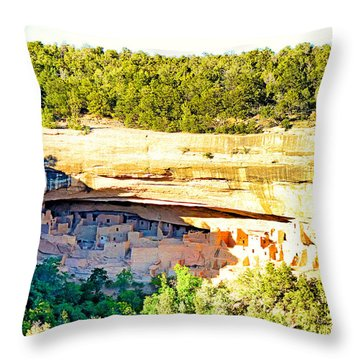 Cliff Palace Study 1 Throw Pillow