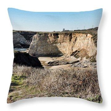 Cliff Top Throw Pillow