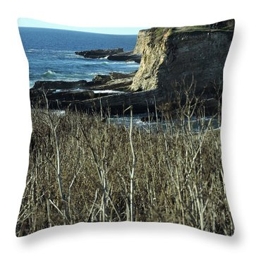 Cliff View Throw Pillow