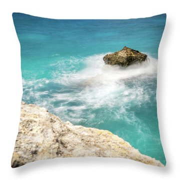 Cliff Views In Negril Throw Pillow