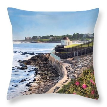 Cliff Walk Throw Pillow