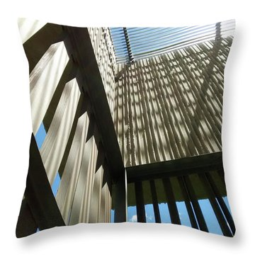 Throw Pillow featuring the photograph Clyfford Still Museum by Marilyn Hunt