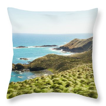 Cliffs And Capes Throw Pillow