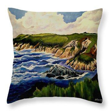 Cliffs And Sea Throw Pillow