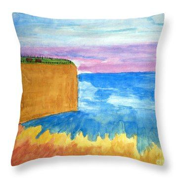 Cliffs And Sea Throw Pillow