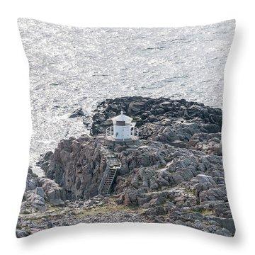 Cliffs At Kullaberg Throw Pillow