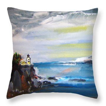 Cliffs By Colleen Ranney Throw Pillow