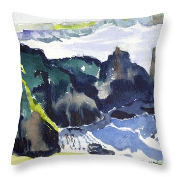 Cliffs In The Sea Throw Pillow