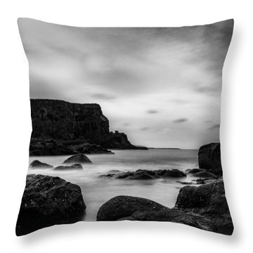 Cliffs Near Causeway Throw Pillow