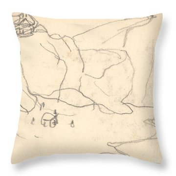 Cliffs Near Pourville-varengeville Throw Pillow