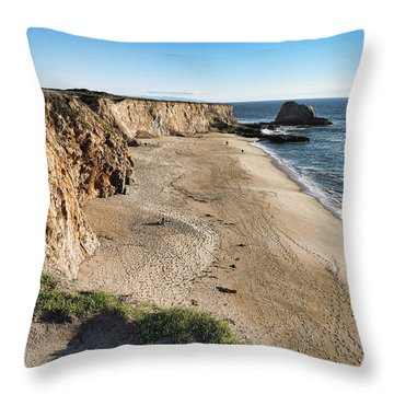 Cliffs Of Davenport Throw Pillow