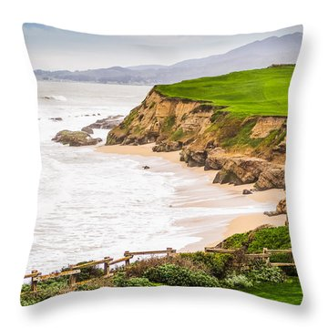 The Cliffs At Half Moon Bay Throw Pillow