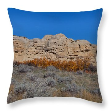 Throw Pillow featuring the photograph Cliffs Of Hoodoos by Fran Riley