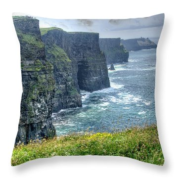 Throw Pillow featuring the photograph Cliffs Of Moher by Alan Toepfer