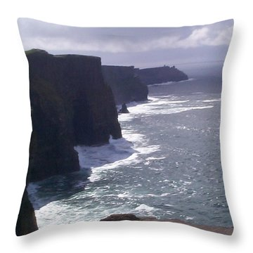 Throw Pillow featuring the photograph Cliffs Of Moher by Charles Kraus